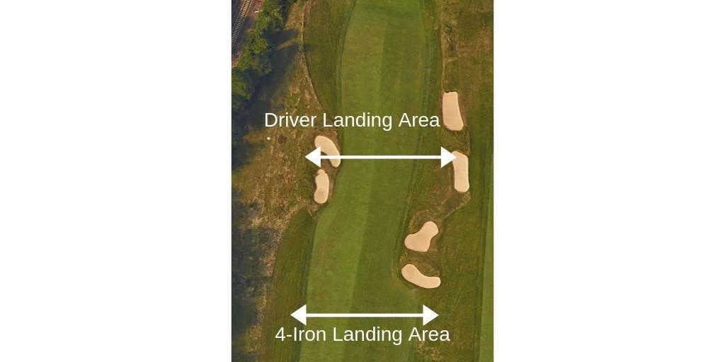 driver iron tee shot